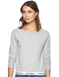 Calvin Klein Damen Top Sweatshirt Long Sleeve Langarmshirt