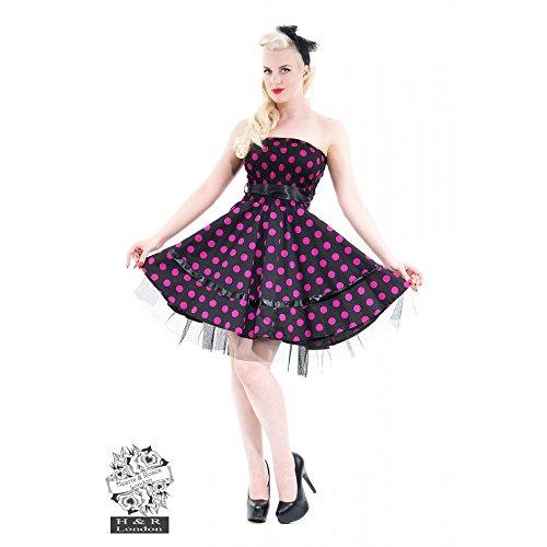 H r bandeaukleid &london bIG dOTS dRESS noir/rose Noir - Black-Pink