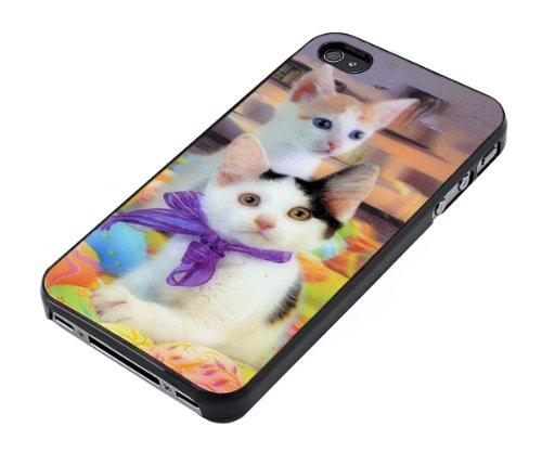 Xcessor Tiger 3D Hologramm Hard Kunststoff Case für Apple iPhone 4/4S Cat / Multi-colored