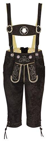 Trachten Lederhose Kinder - Kniebundlederhose mit abnehmbaren Hosenträgern - Trachten Lederhose Original FROHSINN für Jungs und Mädchen - Alle Größen!