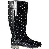 Las señoras para mujer Botas de agua nieve Festival de la Lluvia Wellington Botas Tamaño EU : 37, 38, 39, 40, 84
