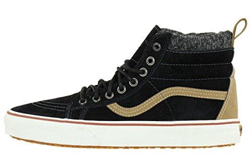VansU Sk8-Hi Mte - Scarpe da skateboard unisex adulto Black-Tobacco Brown