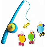 YIXIN Bath Fishing Toy with Floating Fish Enjoy Bathing Fun Time Fishing Game Great Gift for Boys Girls for 3 Years Old Early Education,Color Random Delivery