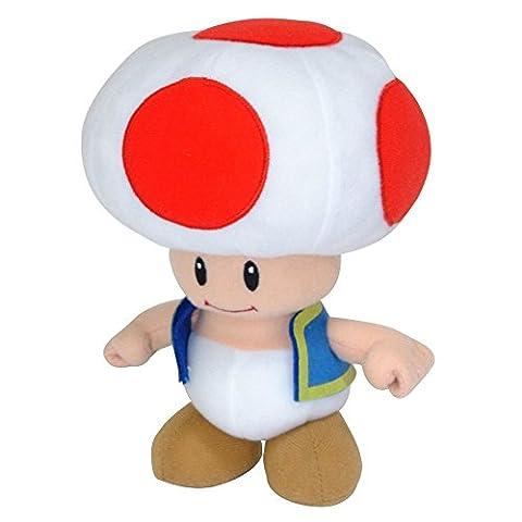 Super Mario - AGMSM6P-01T - Peluche - Nintendo Toad - 20 cm