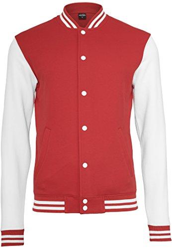 Preisvergleich Produktbild Urban Classics 2-tone College Sweatjacket TB207,  size:XL,  Farbe:red / white