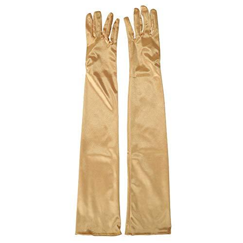 Lange Satin-Handschuhe, Abend-Handschuhe Satin Ellbogenhandschuhe Braut-Handschuhe Hochzeit Bälle Opernhandschuhe Stil für Frauen Mädchen Brauthandschuhe Free Size ()