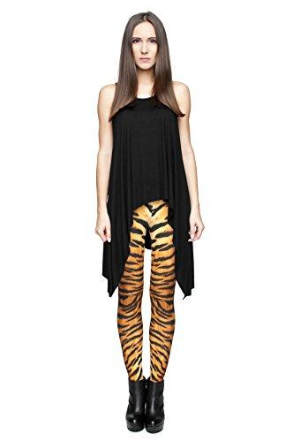 Fringoo Yoga-Leggings für Damen, enganliegend Tiger Fur
