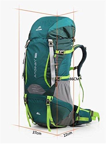 borsa arrampicata all'aperto zaino tracolla uomini borsa e donne a piedi grande 70L capienza ( Colore : 2# , dimensioni : 70L ) 2#