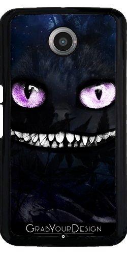 Grabyourdesign 1434223733__1544 nero 11-Custodia protettiva per Google Nexus, Il gatto del Cheshire by Julien Kaltnecker