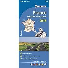 Michelin Frankreich Fernrouten 2018: Straßen- und Tourismuskarte 1:1.000.000 (MICHELIN Nationalkarten)