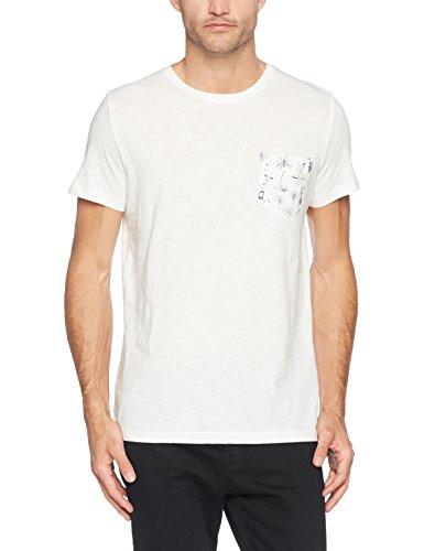 ESPRIT Herren T-Shirt 057ee2k037 Weiß (White 100)