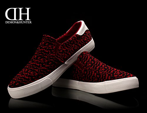 Demon&Hunter KU-DA Series Mens Fashion Sneaker C403297 No.III 403297RB x Rouge & Noir