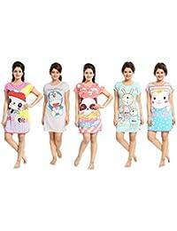 708f66da15 TUCUTE® Girtl s Women s Hosiery Short Cartoon Print Nighty Night Wear Lounge  Wear
