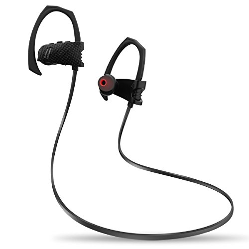 Cuffie Bluetooth Magnetiche,Eternal eye Auricolari Sportivi Wireless Stereo ( Bluetooth 4.1, aptX, A2DP, 6 ore di Riproduzione, Microfono Incorporato, CVC 6.0 ) per iPhone, Tablet, MP3, ecc. - Nero