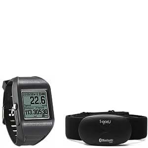 I-GOTU Montre GPS sport GT-900 noire + Capteur Cardio Bluetooth 4.0 HRM-10 noir