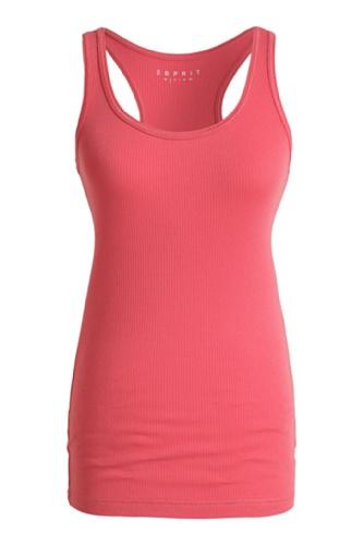 ESPRIT SPORTS Damen Top 073ES1K013, V-Ausschnitt Rot (Creamy Rhubarb Red 623)