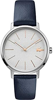 Lacoste Women'S Silver White Dial Blue Leather Watch - 200