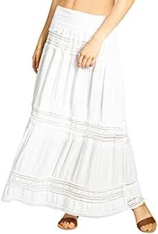 sneakers for cheap ea268 17b19 Suchergebnis auf Amazon.de für: Rock Weiß Lang - CASPAR Fashion