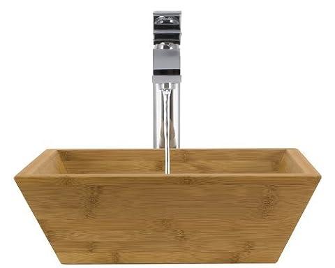 The MR Direct 891 Chrome Bathroom 721 Vessel Faucet Ensemble (Bundle - 4 Items: Vessel Sink, Vessel Faucet, Pop-Up Drain, and Sink Ring) by MR Direct