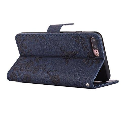 Ekakashop Custodia iphone 7 plus 5.5, Cover iphone 8 plus, Elegante borsa Custodia in Pelle Protettiva Flip Portafoglio libro Case Cover per Apple iphone 7 plus/iphone 8 plus 5.5 pollici con Carte Sl C#12