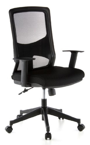 Leder Ergonomische Büro-stuhl (hjh OFFICE 653100 Bürostuhl LAVITA Netz-Stoff Schwarz Ergonomisch Schreibtisch-Stuhl Büro-Drehstuhl Armlehnen Netzrücken)