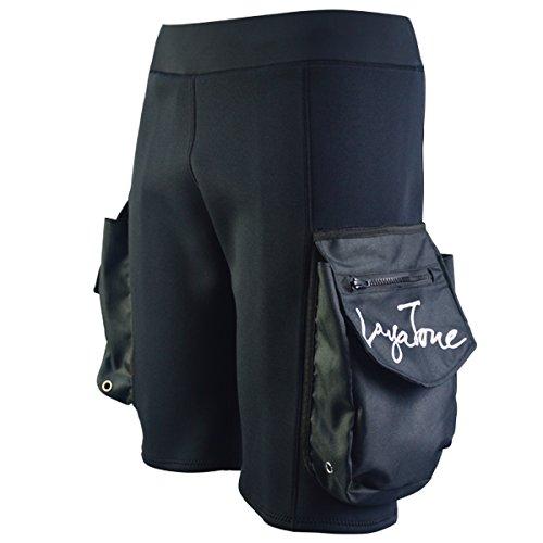 LayaTone Wetsuit Shorts Mens Neopren 3mm Hose mit Taschen für Tauchen Surfen Schwimmen Kanu
