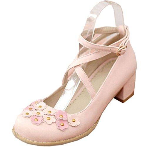 Partiss Damen Sweet Lolita Wedge Shoes Japanisch High-top Casual Lolita  Pumps Herbst Fruehling Hochzeit