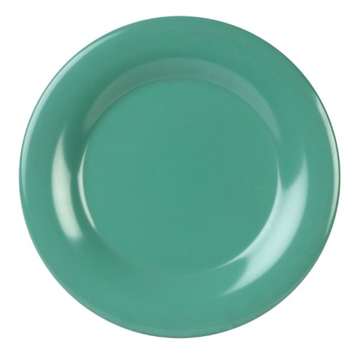 Excellante 12-Piece Series Wide Rim Plate, 10-1/2-Inch, Green by Excellante - Serie Wide Rim Plate