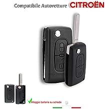 Guscio concha Llave Mando a distancia 2botones Citroen C1C2C3C4C5+ hoja con compartimiento batería sobre tarjeta b01g