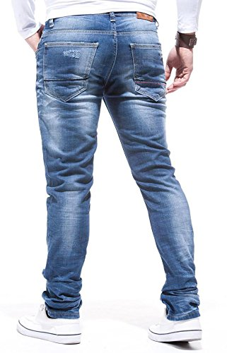 LEIF NELSON Herren Jeans Jeanshose LN271 Blau