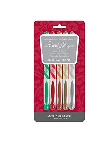American Crafts 5Stück Weihnachten Metallic Gel Pen Set -