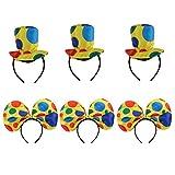 Non brand Sharplace 6 Pezzi Polka Dots Adulti Costume Da Clown Cappello  Fascia Circo Halloween Party 2d04d7914280