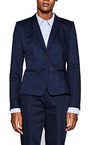 ESPRIT Collection Damen 998EO1G801 Anzugjacke, Blau (Navy 400), Herstellergröße: 44
