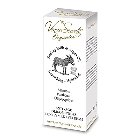 Eye Cream For Dark Circles Puffiness and Wrinkles With Donkey Milk - 40ml by Venus Secrets