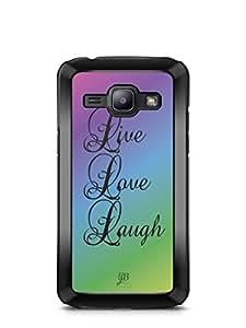 YuBingo Live. Love. Laugh. Designer Mobile Case Back Cover for Samsung Galaxy J1