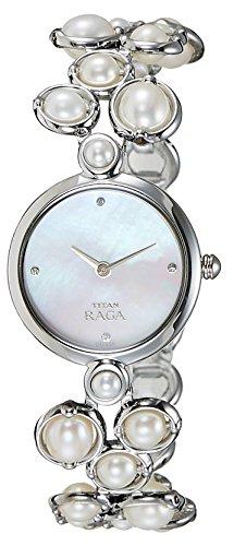 41pRqbT0OhL - Titan 9971SM01J Silver Women watch
