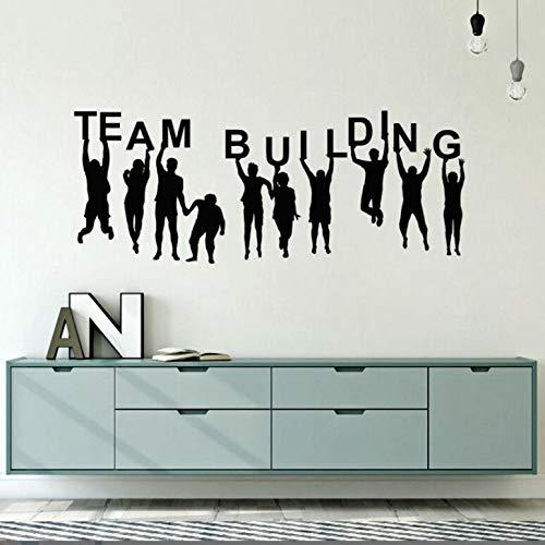 jiuyaomai Büro Raumdekoration Teambuilding Quote Wandtattoo Vinyl Teambuilding Wandaufkleber Büro Vinyl Wandkunst Poster A schwarz 107x42 cm