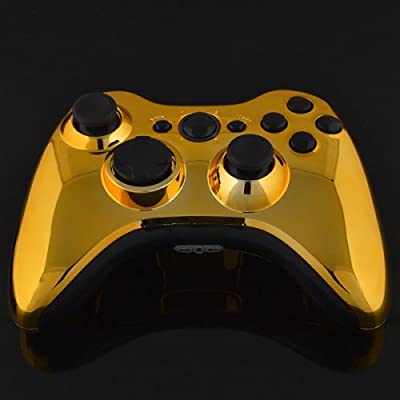 Xbox 360 Wireless Controller - Chrome Gold with Black Buttons