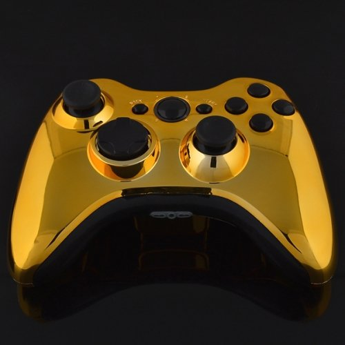 X360 Official Wireless Pad Chrome Gold