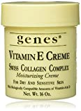 Genes Vitamin E Creme Swiss Collagen Complex Moisturizing Creme for Dry and Sensitive Skin 16 oz by Genes