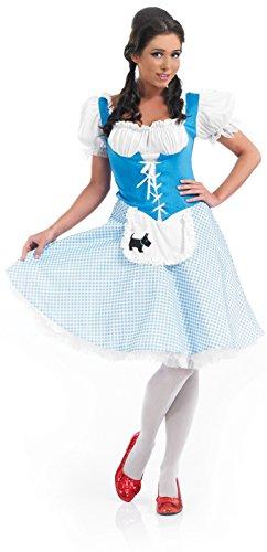 Partypackage Ltd Damen länger Länge Dorothy Kostüm für Märchen Kostüm Erwachsene Damen 1 XL 20-22
