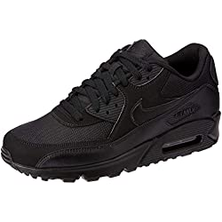 Nike Air Max 90 537384, Herren Sneakers Training, Schwarz (Black/Black/Black/Black), 45.5 EU