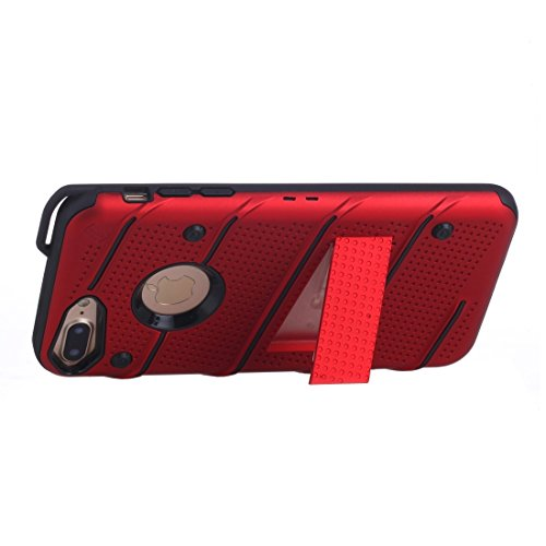 BING Für iPhone 7 Plus Charm Knight Abnehmbare PC + TPU Kombination Schutzhülle mit Halter BING ( Color : Blue ) Red