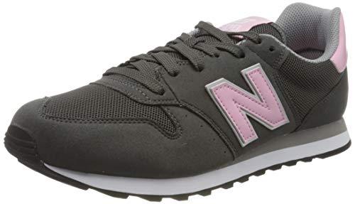 New Balance, Damen Sneaker, Grau (Grey/pink), 40 EU (6.5 UK)