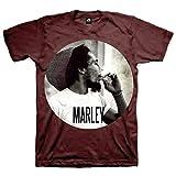 Bob Marley Smokin Circle Short Sleeve, Rosso (Dark Red), 2XL Uomo
