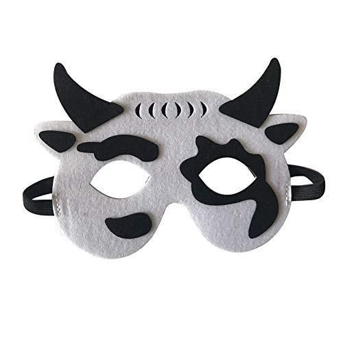 Starall Kinder Halloween Masken Niedlichen Tier Lion Tiger Fox Maskerade Party Kostüm Cosplay Prop (Kleine Kuh)