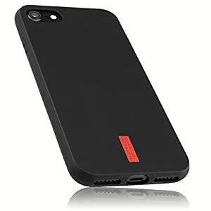 mumbi Protective Case for iPhone 4/4S, 5 °C, X 7, 7 Plus, 8/8 schwarz Logo iPhone 8/7