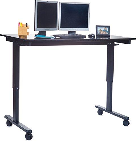 Manuell höhenverstellbarer Schreibtisch (Farbe: wählbar, Länge: 120 oder 150cm) - 2