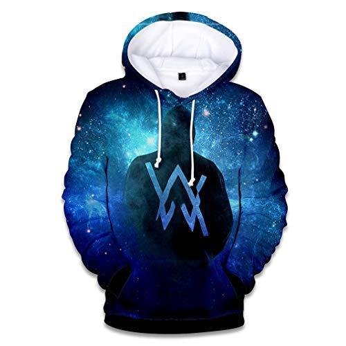 Pulloverhoodie Paar Tragen, 3D-Druck-Sweatshirt Beiläufige Straße Langarm Pullover Unisex Wear,01,M -