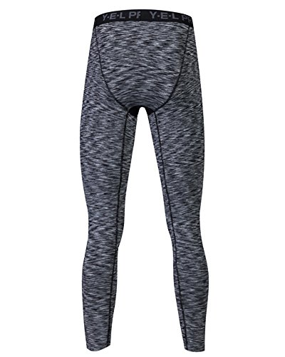Sportivi Leggings a Compressione Base Strato Termico Fintess Pantaloni Uomo Nero Colorato